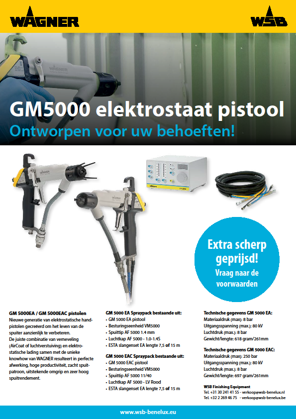 GM5000 elektrostaat pistool