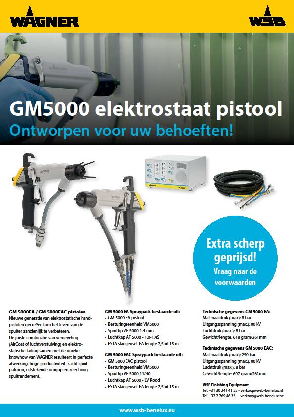 WAGNER GM5000 elektrostaat pistool
