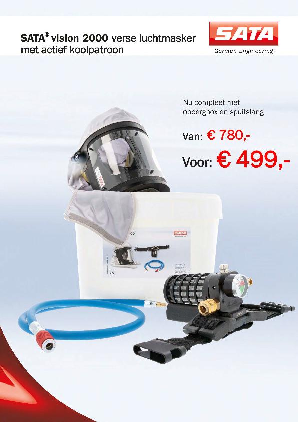 SATA vision 2000 verse luchtmasker